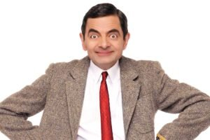 men, Actor, Rowan Atkinson, Mr. Bean, Smiling, Suits, Tie, White background
