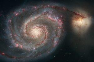 galaxy, Spiral galaxy, Stars, Space
