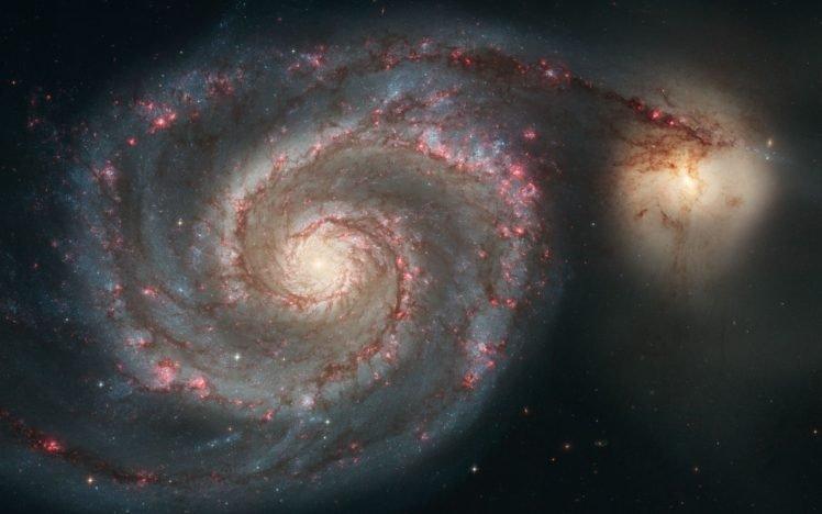 galaxy, Spiral galaxy, Stars, Space HD Wallpaper Desktop Background