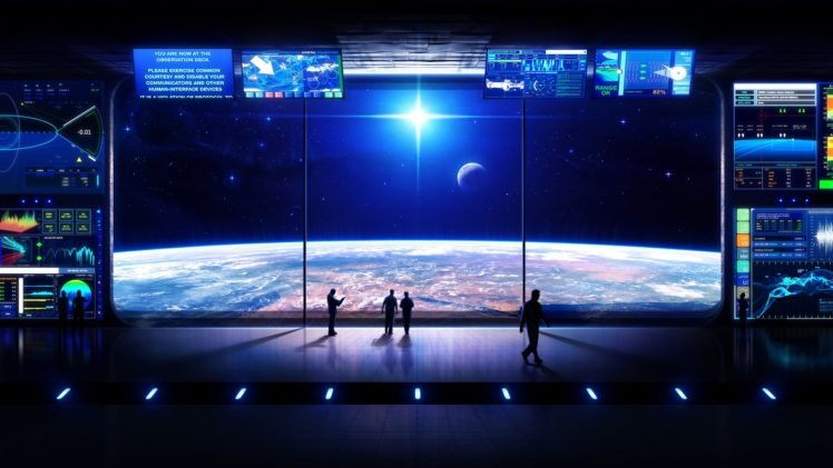 space station, Science fiction, Space art, Space, Digital art HD Wallpaper Desktop Background
