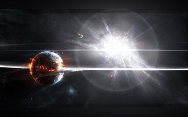 space art, Space, Digital art, Apocalyptic HD Wallpaper Desktop Background
