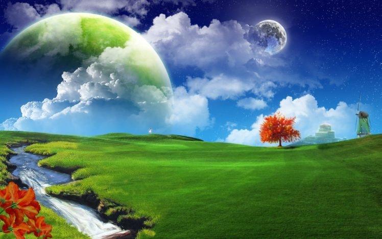 landscape, Space art, Space, Nature HD Wallpaper Desktop Background