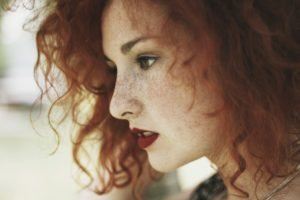 women, Model, Redhead, Green eyes, Freckles, Face