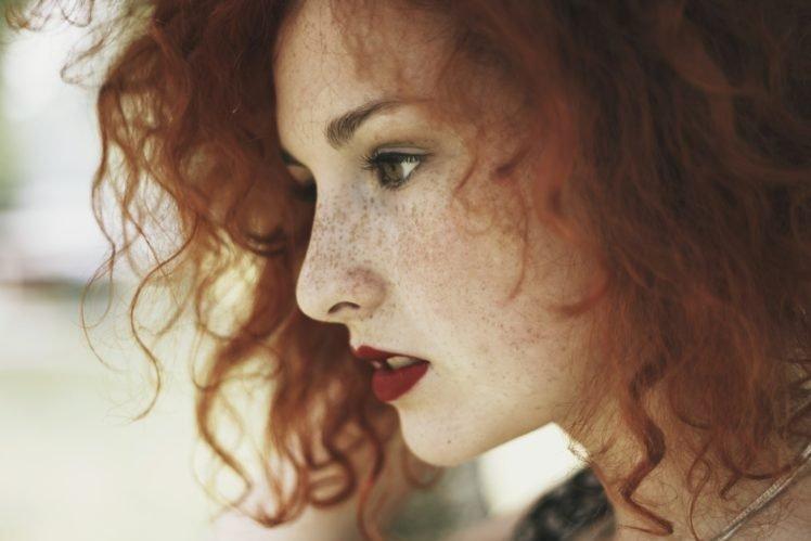 women, Model, Redhead, Green eyes, Freckles, Face HD Wallpaper Desktop Background