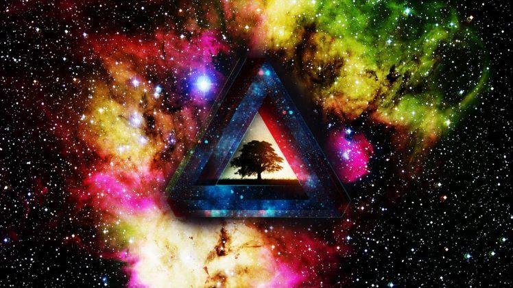 colorful, Abstract, Digital art, Space art HD Wallpaper Desktop Background