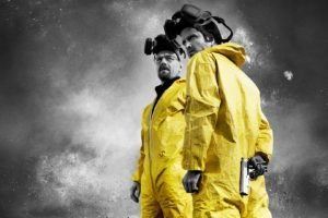 Breaking Bad, Selective coloring, Gas masks, Walter White, Jesse Pinkman, Paint splatter