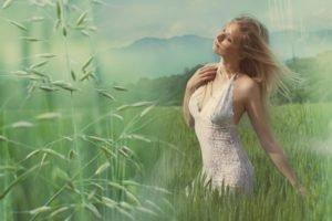 women, Dress, White dress