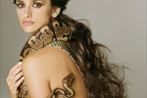 Penelope Cruz, Snake, Long hair, Women, Actress