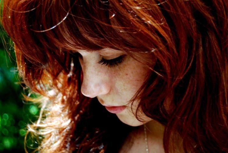 women, Redhead, Freckles HD Wallpaper Desktop Background