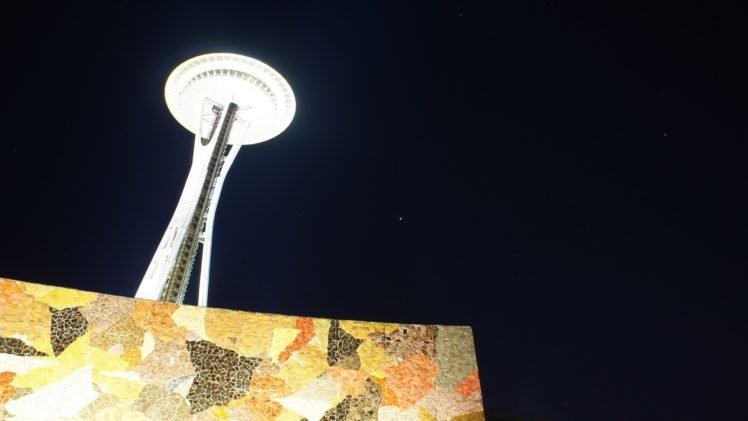 Seattle, Space Needle, Night HD Wallpaper Desktop Background