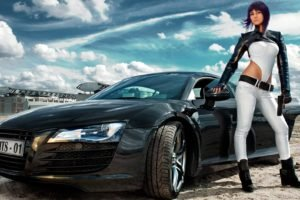 model, Cosplay, Ghost in the Shell, Car
