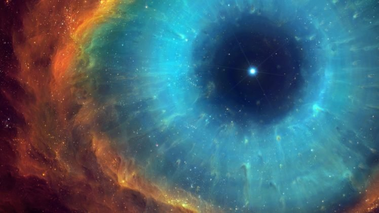 eyes, TylerCreatesWorlds, Universe, Nebula, Helix nebula, Space, Stars, Space art, Digital art HD Wallpaper Desktop Background