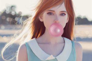 redhead, Bubble gum, Drawing