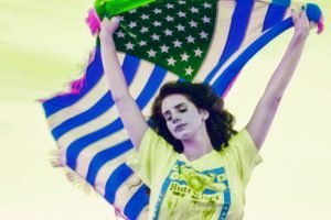 Lana Del Rey, Flag, Women, T shirt, Photo manipulation