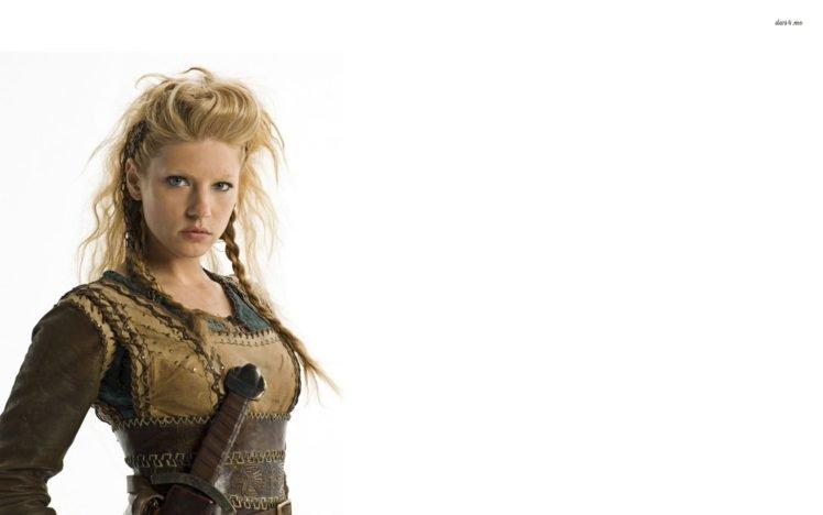Katheryn Winnick, Vikings, Vikings (TV series), TV, Blonde, Lagertha Lothbrok HD Wallpaper Desktop Background