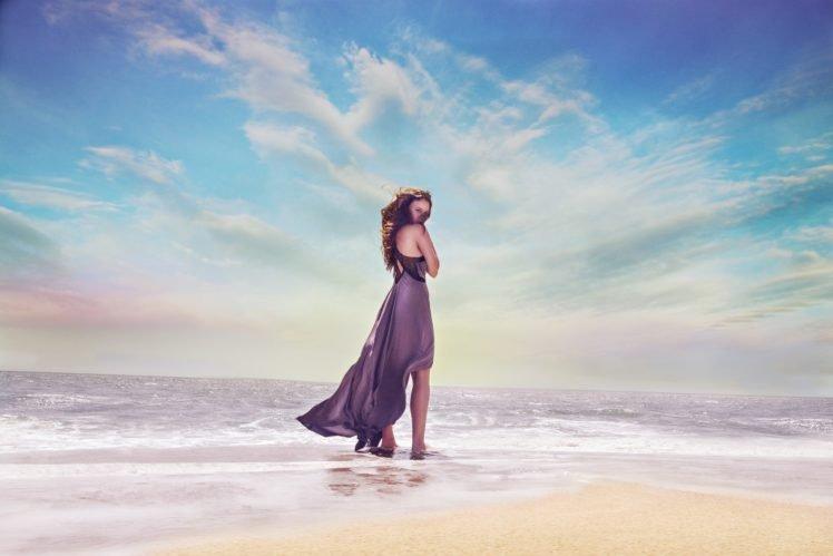 model, Sea HD Wallpaper Desktop Background