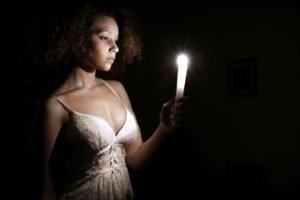 women, Candles