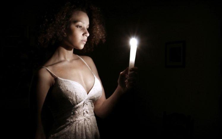 women, Candles HD Wallpaper Desktop Background
