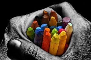 hand, Artwork, Selective coloring