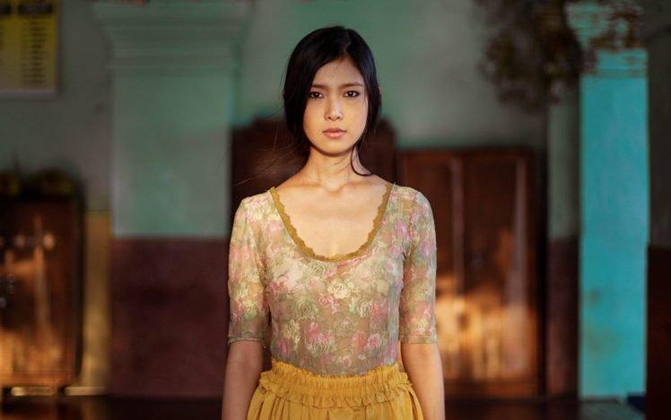 women, Asian, Brunette HD Wallpaper Desktop Background
