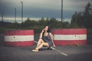 skateboard, Women, Legs