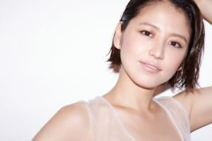 Masami Nagasawa, Asian, Women, Short hair, White background, Smiling