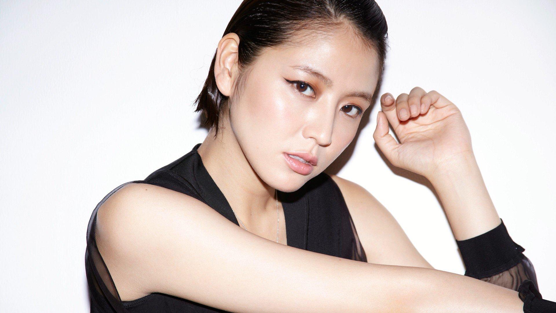 Masami Nagasawa, Asian, Women, White background, Short hair Wallpaper