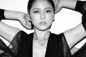 Masami Nagasawa, Arms up, Asian, Necklace, Black clothing, Women