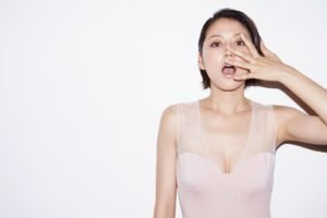 Masami Nagasawa, Simple background, Open mouth, Asian, Women, Short hair, Brunette