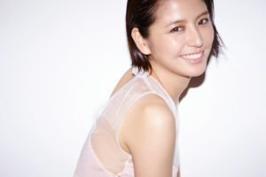 Masami Nagasawa, Asian, Smiling, Women, White tops, Short hair, White background, Brunette