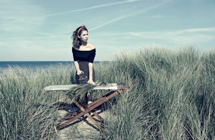 women outdoors, Brunette HD Wallpaper Desktop Background