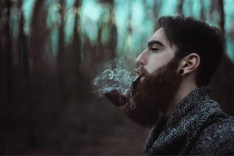 Beards Smoke Model Sad Men HD Wallpaper Desktop Background