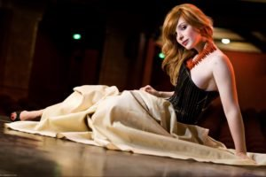 women, Actress, Redhead, Long hair, Vica Kerekes, Eva Kerekesová, Brown eyes, Freckles, Dress, Sitting, On the floor