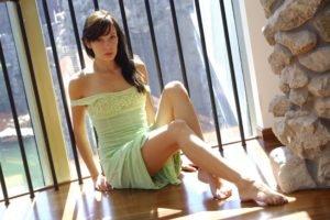legs, Brunette, Barefoot