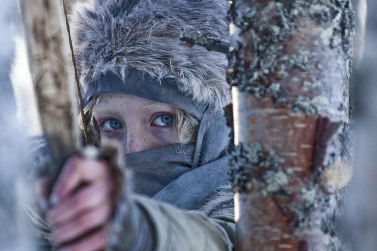 women, Celebrity, Saoirse Ronan, Actress, Hanna (movie), Blue eyes, Archers HD Wallpaper Desktop Background