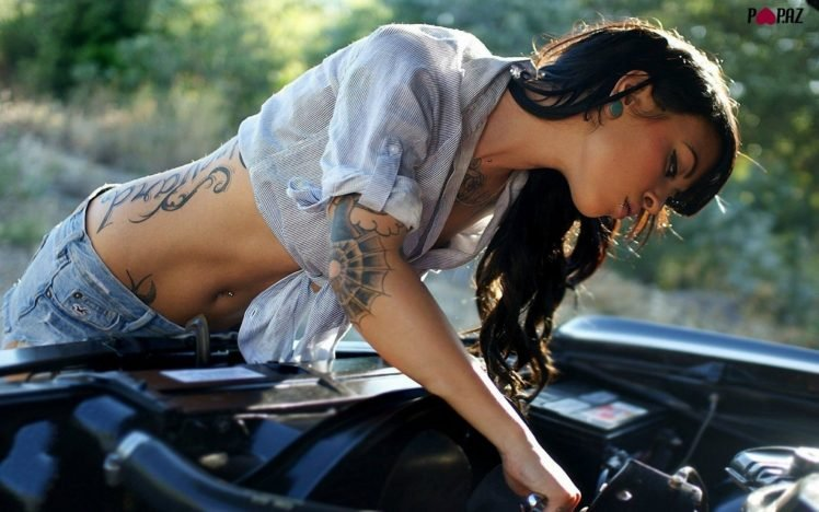car, Sports car, Brunette HD Wallpaper Desktop Background