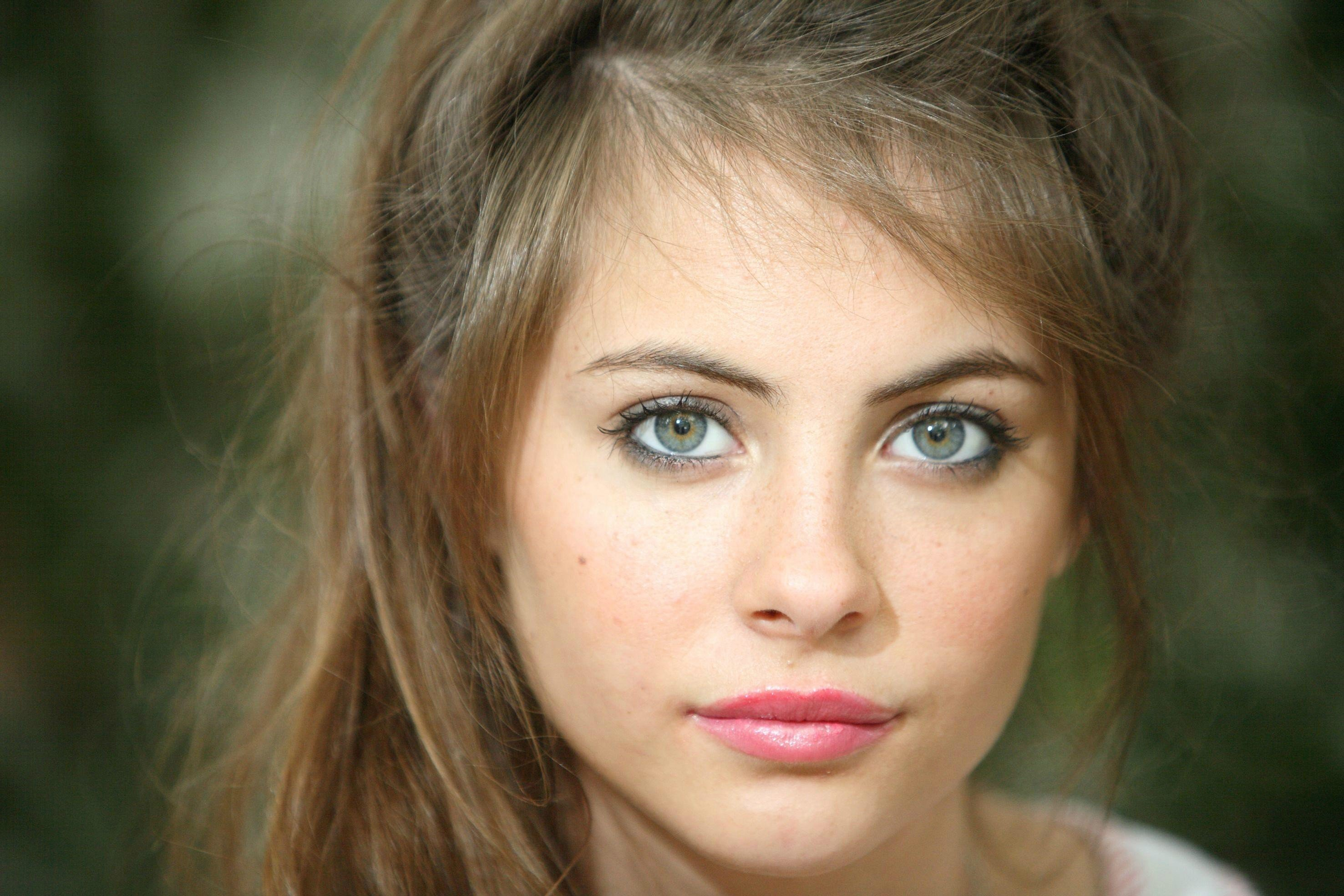 women, Face, Brunette, Green eyes HD Wallpapers / Desktop
