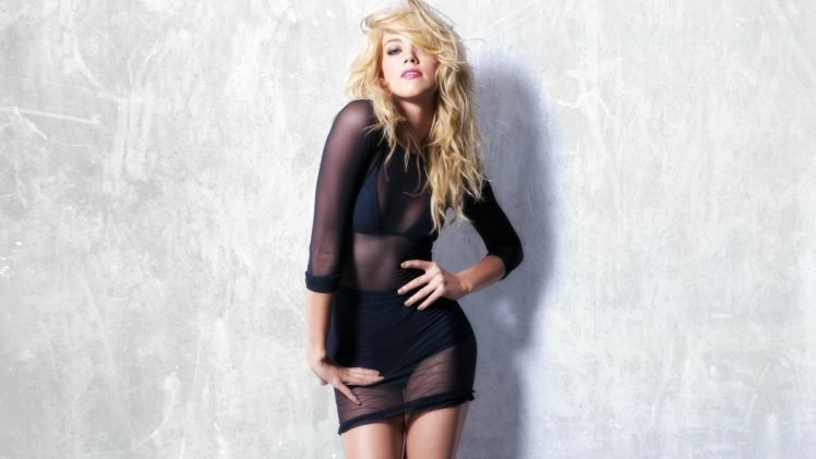 Amber Heard, Hands on hips, Blonde HD Wallpaper Desktop Background