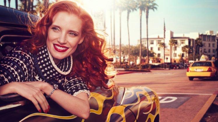 Jessica Chastain, Redhead, Actress HD Wallpaper Desktop Background