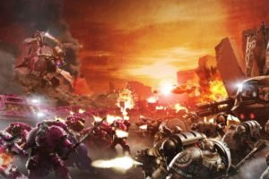 Warhammer 40, 000, Space marines, Horus Heresy, War, Science fiction, Futuristic, Battle, Artwork
