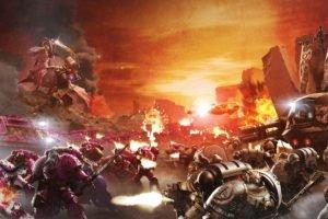 Warhammer 40, 000, Space marines, Horus Heresy, War, Science fiction, Futuristic, Battle, Artwork