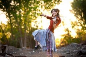 Lindsey Stirling, Women, Violin, Skirt