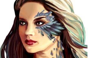 women, Artwork, Face