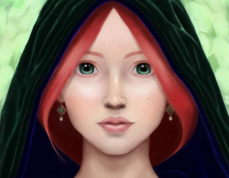 artwork, Women, Face HD Wallpaper Desktop Background