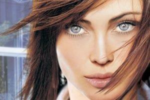 blue eyes, Fantasy art, Anna Moleva
