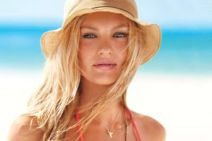 Candice Swanepoel, Model, Blonde, Blue eyes, Face, Hat