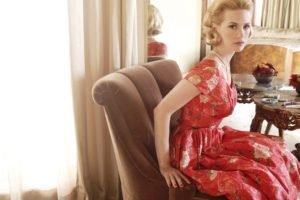 January Jones, Women, Blonde, Dress, Actress