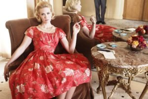 January Jones, Women, Blonde, Dress, Cigarettes