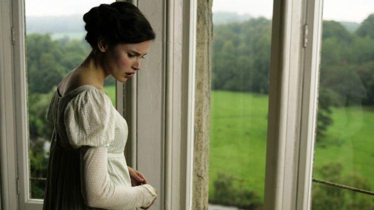 Felicity Jones, Actress, Women, Green eyes, Northanger Abbey, Brunette HD Wallpaper Desktop Background