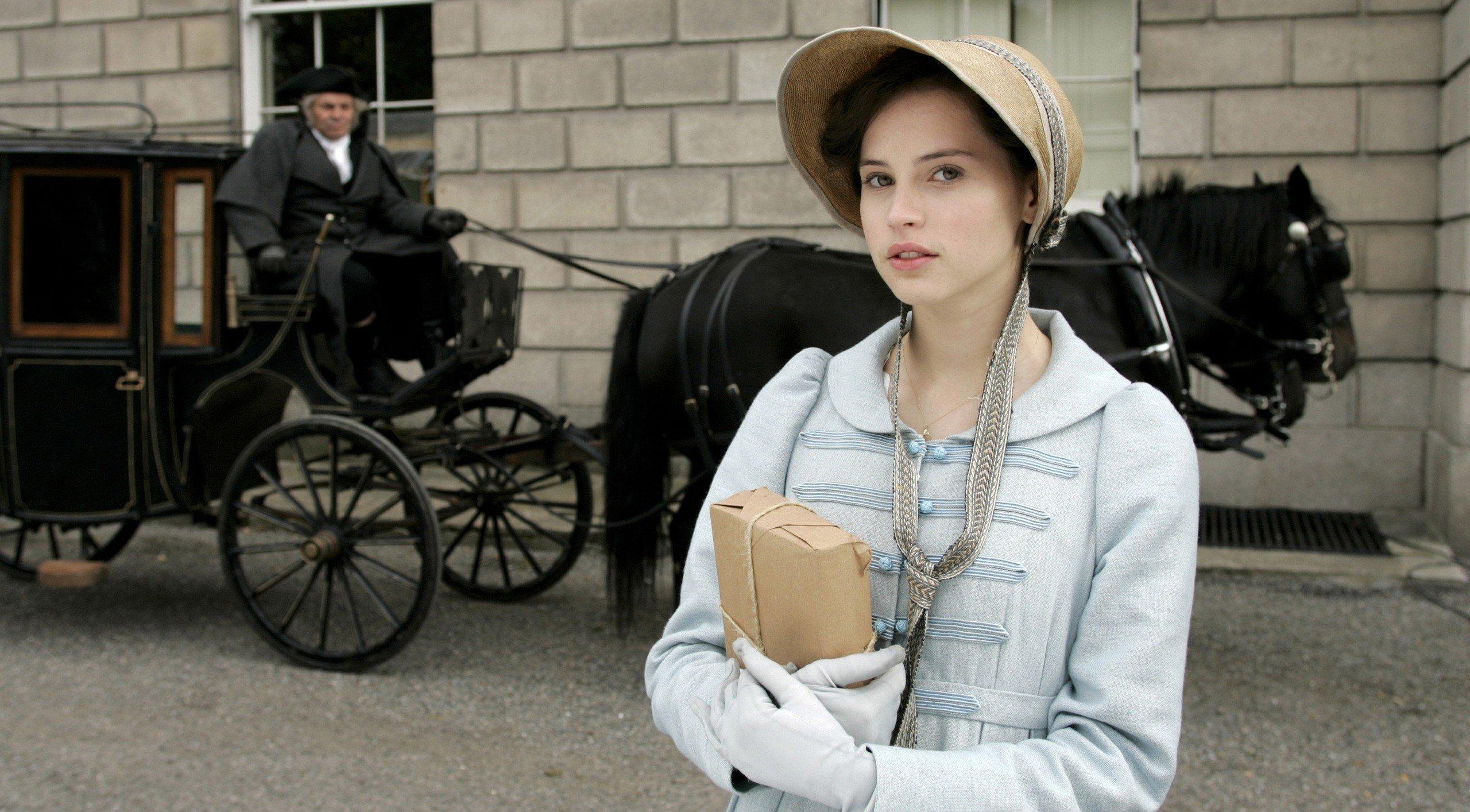 Felicity Jones, Actress, Women, Green eyes, Northanger Abbey Wallpaper